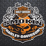 Smoking Harley-Davidson